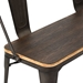 Oakland Antique + Espresso Rustic Modern Dining Bench - Detail
