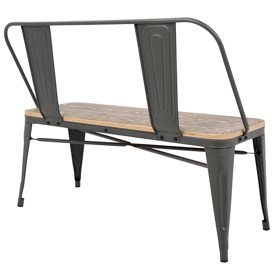 Bon ... Oakland Gray Modern Industrial Dining Bench ...