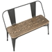 Oakland Gray Contemporary Dining Bench