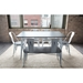 Oakland White + Espresso Industrial Dining Set