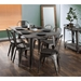 Oakland Contemporary Rustic Antique Dining Table + Chairs