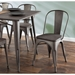Oakland Antique + Espresso Rustic Dining Chair