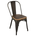 Oakland Antique + Espresso Rustic Modern Dining Chair