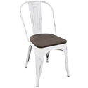 Oakland White + Espresso Rustic Modern Dining Chair