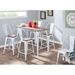 Oakland Modern White Counter Table + High Back Stools