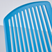 Octavia Blue Modern Stacking Dining Chair Detail