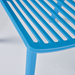 Octavia Blue Plastic Stacking Dining Chair