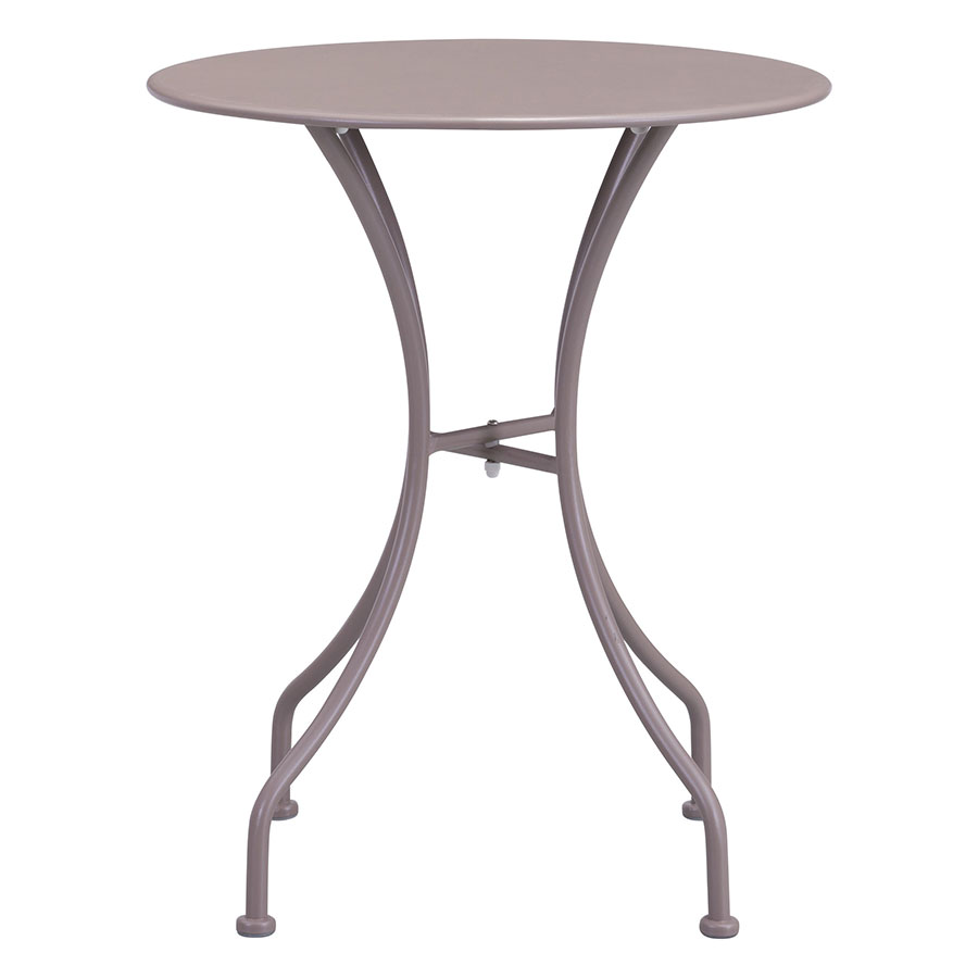 Octavio Taupe Round Contemporary Outdoor Dining Table