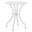 Octavio White Round Modern Outdoor Dining Table