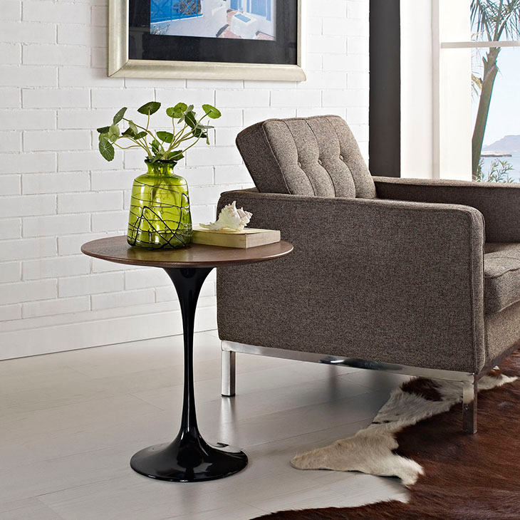 Odyssey 20 Round Walnut Contemporary Side Table