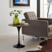 "Odyssey 20"" Round Walnut Contemporary Side Table"