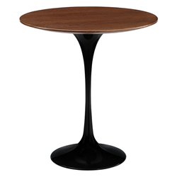 "Odyssey 20"" Round Walnut Modern Side Table"