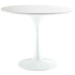 "Odyssey 24"" Round Fiberglass Modern Side Table"