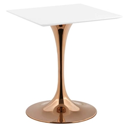 Odyssey 24 in. Square Rose Gold Dining Table