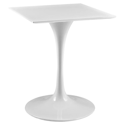 Odyssey 24 in. Square White Wood Top Dining Table
