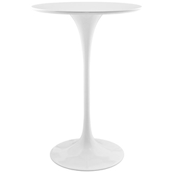 "Odyssey 28"" Round Modern White Bar Table"