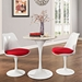 Odyssey 28 in. Mid-Century Modern Round Faux Marble Dining Table