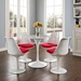 Odyssey 28 in. Contemporary Round Faux Marble Dining Table