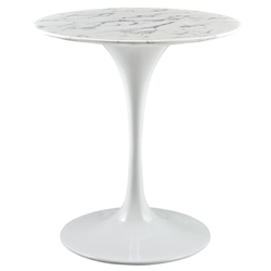 Odyssey 28 in. Modern Round Faux Marble Dining Table