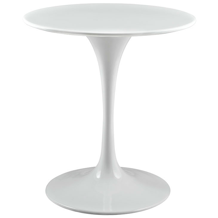Odyssey 28 in. Round White Wood Top Dining Table