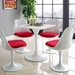 Odyssey 28 in. White Square Dining Table + Side Chairs
