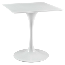 Odyssey 28 in. Square White Wood Top Dining Table