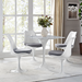 "Odyssey 28"" Square Marble Contemporary Dining Table with Odyssey Side Chair"