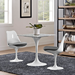 "Odyssey 28"" Square Marble Modern Dining Table with Odyssey Chairs"