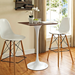 "Odyssey 28"" Square Walnut Contemporary Bar Table with Truss Stools"