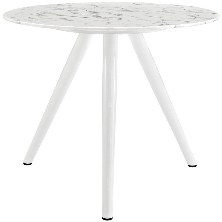 Odyssey 36 in. Modern Faux Marble Top Tripod Base Dining Table