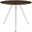 Odyssey 36 in. Modern Walnut Top Tripod Base Dining Table