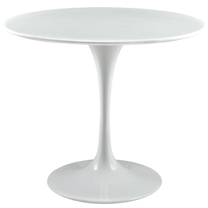 Odyssey 36 in. Modern White Wood Top Dining Table