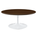 "Odyssey 36"" Round Walnut Modern Coffee Table"