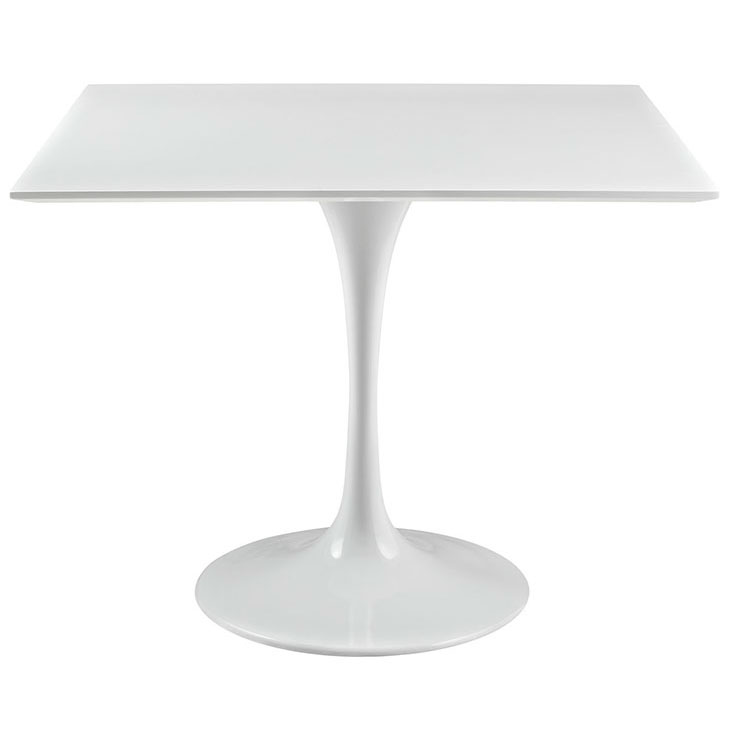 Odyssey Modern White Square Wood Top Dining Table