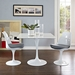 Odyssey 47 in. Mid-Century White Square Wood Top Dining Table