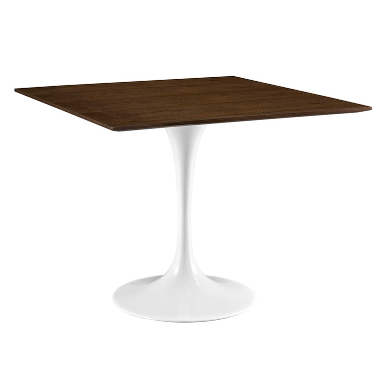 Odyssey 36 Square Walnut Modern Dining Table Eurway