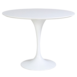 odyssey 39 inch round white modern classic dining table