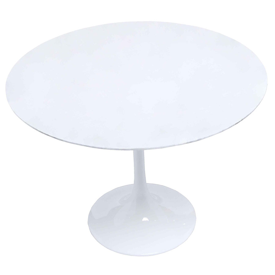 odyssey 39 inch round white dining table