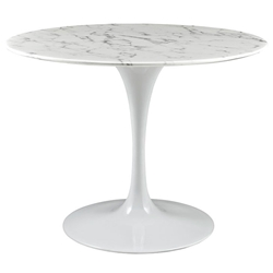 Odyssey 40 in. Modern Round Faux Marble Dining Table