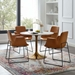 Odyssey Modern 40 in. Gold Round Dining Table