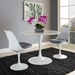 Odyssey 40 in. Mid-Century Modern Round White Dining Table