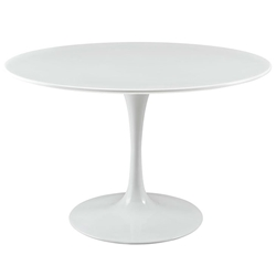 Odyssey 47 in. Round White Wood Top Dining Table
