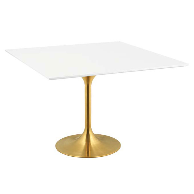 Odyssey 47 in. Square Gold Dining Table