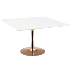 Odyssey 47 in. Square Rose Gold Dining Table