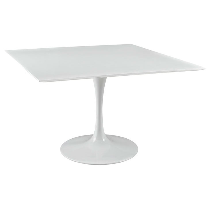 Odyssey 47 in. Square White Wood Top Dining Table
