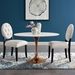 "Odyssey 48"" Oval Rose Gold Mid-Century Dining Table"