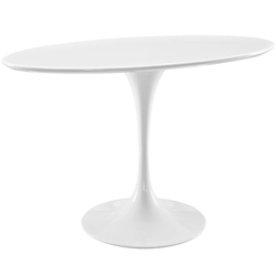 "Odyssey 48"" Oval Modern White Dining Table"