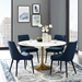 Odyssey 54 in. Modern Gold Round Dining Table
