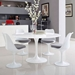 Odyssey 54 in. Mid-Century Modern Round White Dining Table