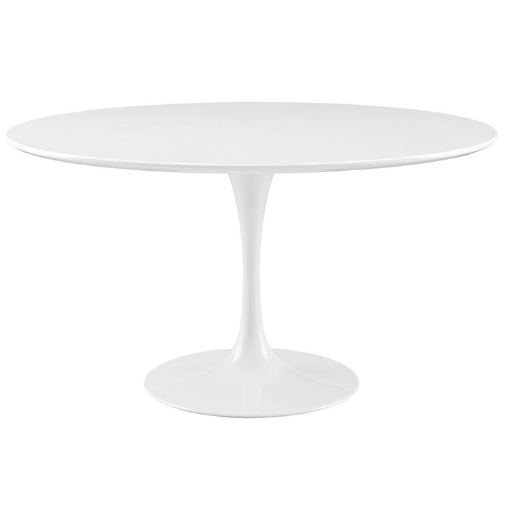 Odyssey 54 in. Round White Wood Top Dining Table